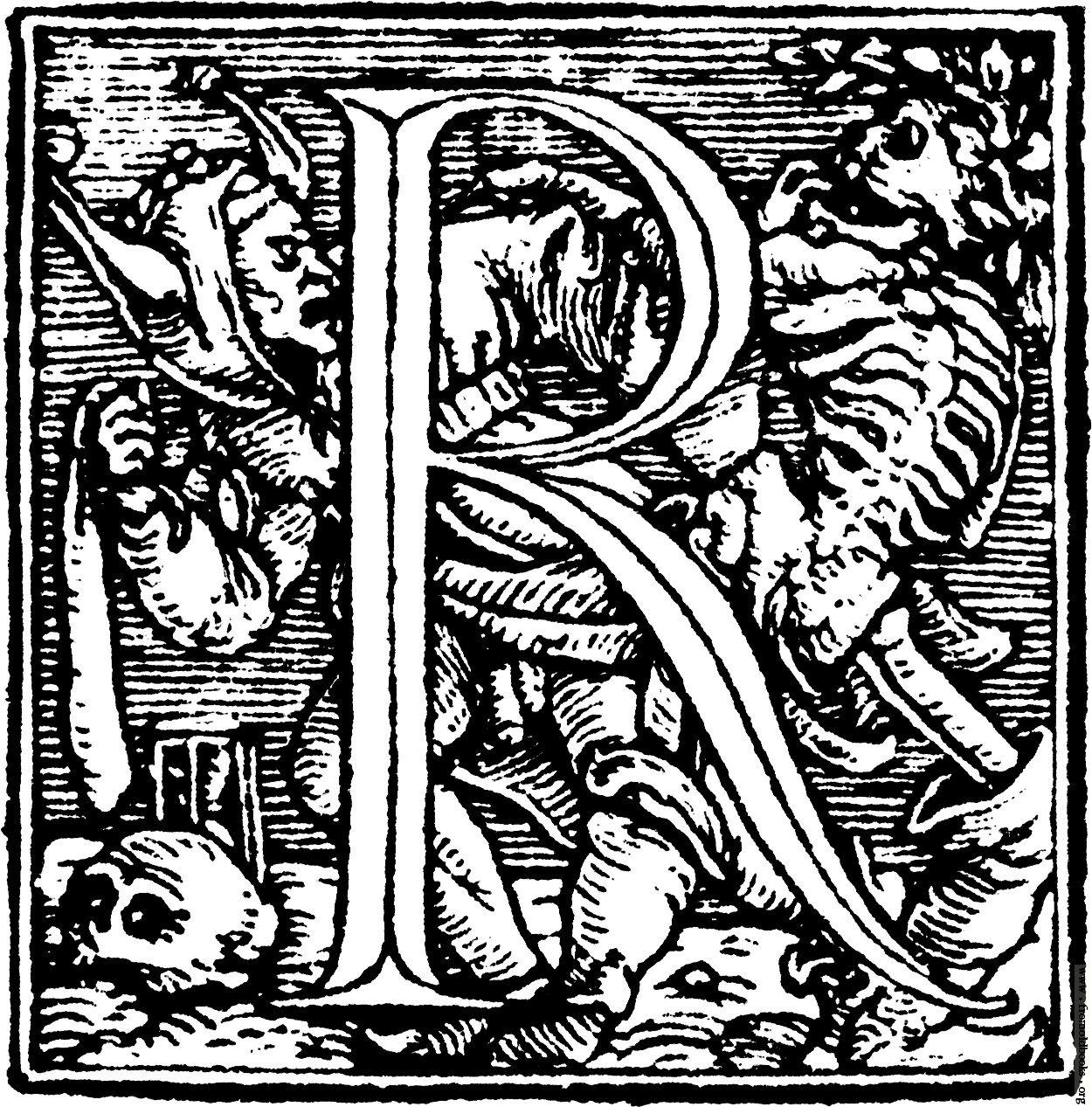 Fig 3. Hans Holbein, Dance of Death Alphabet, 1523.