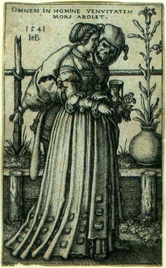 Figura 5. Hans Sebald Beham. The Lady and Death. 1541.
